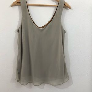 Spencer Alexis Layered Glimmer Sleeveless Blouse